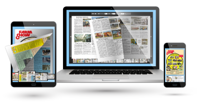 Every issue is accessed as a Flip-Book to be viewed on a Phone, Tablet or Laptop!