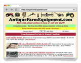 AntiqueFarmEquipment.com - FREE Online Classified Ads to Buy & Sell Your ANTIQUE Farm Equipment, Collectible Farming Machinery, old Ag Equipment, Farm Tools, barn finds, rusty gold, ANYTHING FARM & AG RELATED