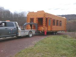 The Sight Of Completely Finished Log Cabins Heading Down The Highway Has  Become More Common Around Southeast Ohio As Folks Across The Country  Discover ...