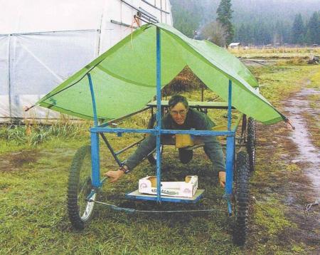 Farm show buggy makes garden work easier - Weeding garden make work easier ...