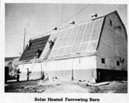 Farm Show Solar Heated Farrowing Barn