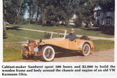 He Built Himself A Wooden Car