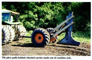 New Way To Handle Tractor Tile Plow