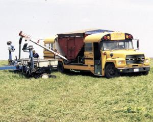 Farm Show School Bus Makes Low Cost Seed Bean Hauler