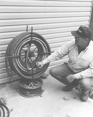 Tire Rim Hose Reel Easy Craft Ideas