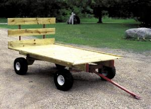 how to build a hay ride wagon