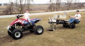 Pulling Sled For 4-Wheeler ATV
