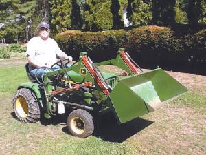 made it myself garden tractor loader - Garden Tractor Loader